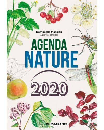 Agenda Nature 2020 - Dominique Mansion (Aquarelles et textes)