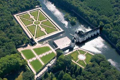 The Gardens Of Chenonceau Castle